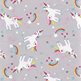 Alice Poly Cotton Pink 100/% Cotton Fabric Dressmaking Quilting White