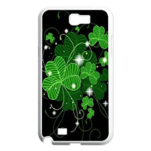 FOR Samsung Galaxy Note 2 Case -(DXJ PHONE CASE)-Irish Flag with Celtic Clover-Lucky Clover-PATTERN 14