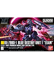 "Bandai Hobby BAN216740 HGUC 1/144 Unit1 ""Exam"" MS Gundam: The Blue Destiny modellbyggsats, flerfärgad, 20,3 cm"