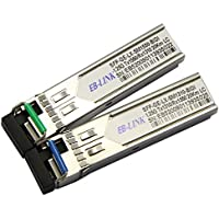 EB-LINK for Cisco 1.25G GLC-BX-U/D,BIDI WDM SFP Transceiver,Singlemode Singlex LC,1310/1550nm, 10km