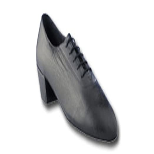 Men's Black Leather Latin Competition Dance Shoe in size US 10.5 with 1.5 inch heel