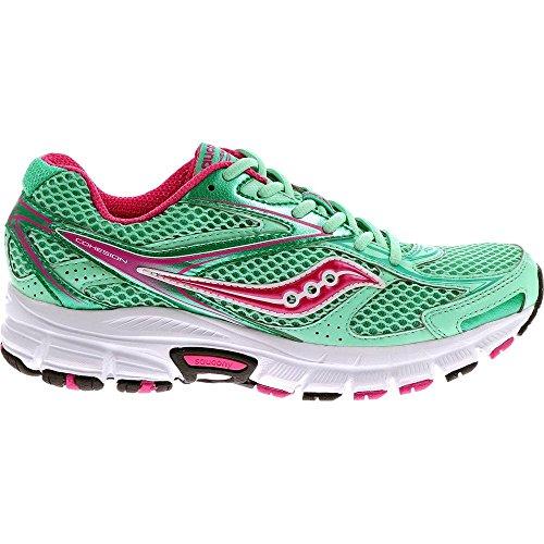 Saucony Cohesion 8 W - Zapatillas de running para mujer Verde / Rosa / Blanco