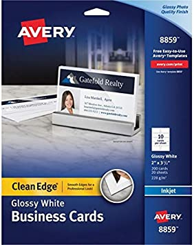 200 Cards 2 x 3.5 Printable Business Cards