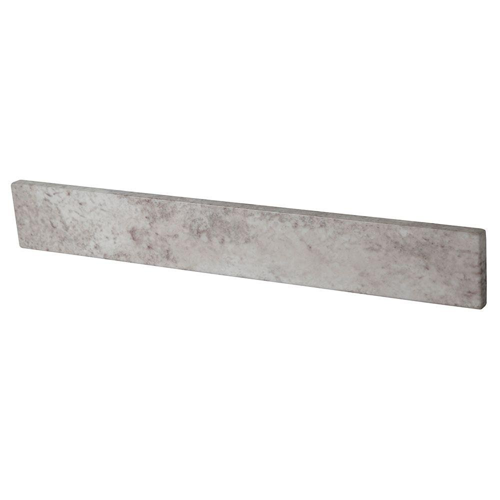 Home Decorators Collection 20.5 in. Stone Effects Sidesplash in Winter Mist