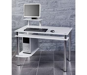Computertisch drucker modern  Weißglas Schreibtisch Computertisch Bürotisch Tisch Design Modern ...