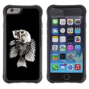 "Planetar® ( Fish Skeleton ) 4.7"" iPhone 6 Hybrid Heavy Duty Shockproof TPU Fundas Cover Cubre Case"