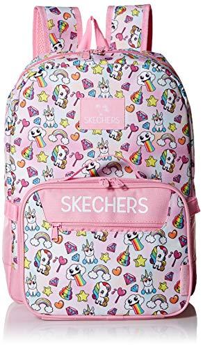 Skechers Kids Girls' Little Fushion Combo Backpack, Pink, Youth Size (Backpack Sketcher)