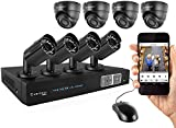 Amcrest ProHD 1080P 8CH Video Security System - Eight 2.1-Megapixel (1920TVL) Outdoor IP67 Bullet & Dome Cameras, 2TB HDD, Night Vision, Remote Smartphone Access, Black Mid (AMDV10808-4B4D-B)