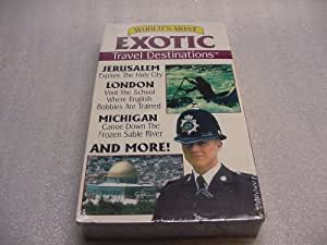 VHS Tape of the World's Most Exotic Travel Destinations Volume 9. Jerusalem Isreal, Hawaii, Sable River, Australia, Italian Designer Giorgio Armani, Los Angeles, London Bobbies School, Palau, and St. Lucia.