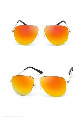 Sonnenbrille Weibliche Jurte Spiegel Mode Mode Reflektierende Sonnenbrille Männliche Sonnenbrille Goldener Rahmen Gold Rot Reflektierend vdQREtN