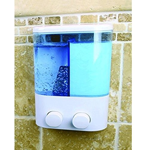 Dual Dispenser Soap Hand Sanitizer Push Button 400Ml Shower Body Wash Wall Mount