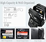 Uoobag KT-01 Business Laptop Backpack Water resistant Anti-theft Computer Bag 15.6 Dark Gray