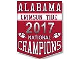 Shield Shaped ALABAMA CRIMSON TIDE 2017 National Champions Sticker (bumper college football)