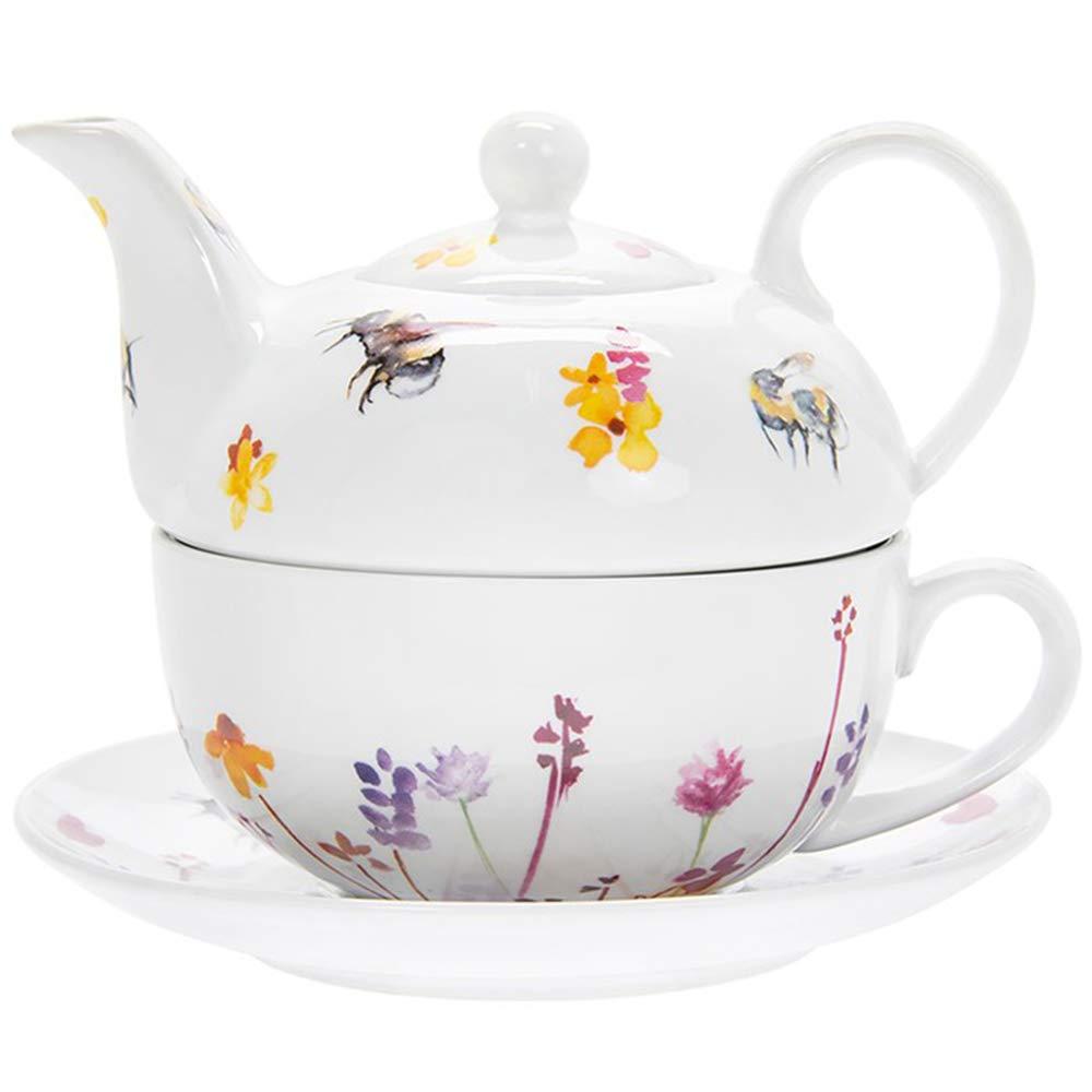 Jennifer Rose Gallery dise/ño de abejas Juego de taza y platillo para tetera