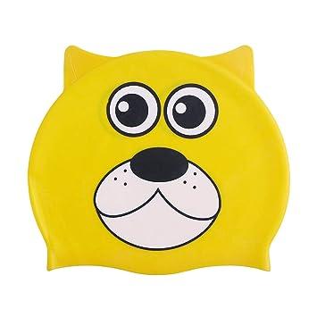 TENDYCOCO Gorro de natación de Silicona para niños patrón de ...
