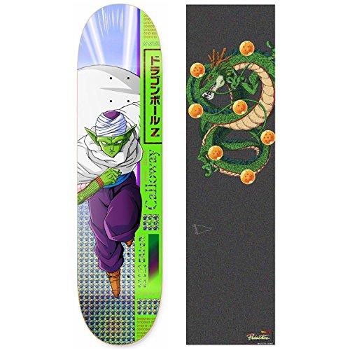 必要ないロデオ危機Primitive Dragon Ball Z Calloway Piccolo スケートボードデッキ 8.0インチ Shenronグリップテープ付き
