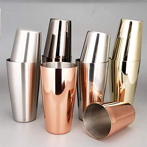 ZYLBDNB Bar Set Cocktail-Shaker Bar Cocktail-Shaker Blechdose Edelstahl bar Werkzeug Schüttler (Color, Copper Plated),Gunmetal Black