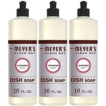 Mrs. Meyer´s Clean Day Dish Soap, Lavender, 16 fl oz, 3 ct