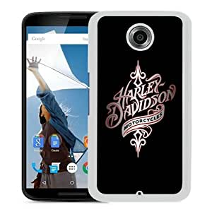 Fashionable And Unique Designed Case For Google Nexus 6 Phone Case With harley davidson 1 White