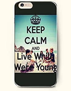 Diy For Iphone 5C Case Cover Hard With the of keep calm and live while were young - Case for Verizon, AT&T Sprint, T-mobile
