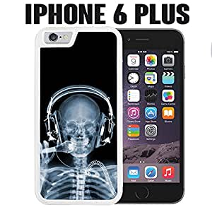 iPhone Case DJ X Ray Skeleton for iPhone 6 PLUS Rubber White