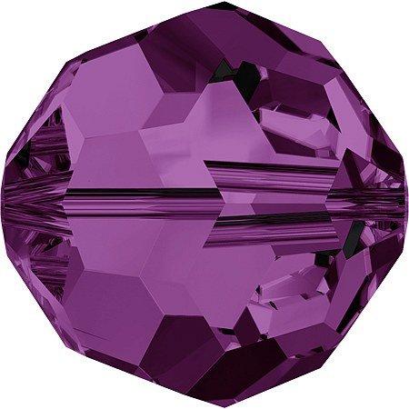 12 Amethyst Round Swarovski Crystal Beads Part 5000