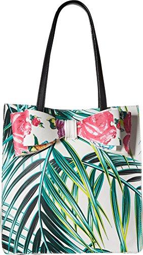 Betsey Johnson Palm Print Bow Tote, ()