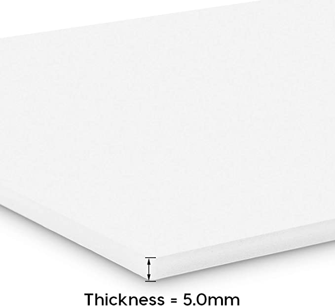 Starvast 297 /× 420 mm con rivestimento esterno in gommapiuma Confezione da 16 fogli in polistirene da 5 mm per foto e matrimoni