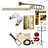 RS Berkeley TB704 Elite Series Bb Trombone with F Attachment, Case & Bonus RSB MEGA PACK w/Essential Elements Book