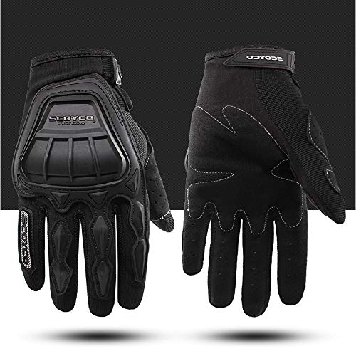 SCOYCO Breathable Spring Reinforced Scooter Gloves (Black,M) ()