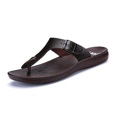 3cf8c6a944438 LuckyGirls Pantoufles d été Pantoufles d été Sandales de Plage Chaussures  décontractées pour Hommes et Femmes Pantoufles de Plage Sandales de Bain  Shoes ...