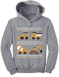TeeStars - Tractors & Bulldozers Ugly Christmas Sweater Toddler Hoodie