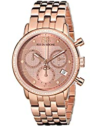 88 Rue du Rhone Womens 87WA130002 Double 8 Analog Display Swiss Quartz Rose Gold Watch
