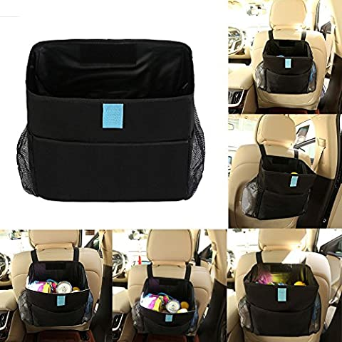 Car Seat Back Garbage Bag Kid Toy Organizer Storage Rubbish Trash Bin Can Superb
