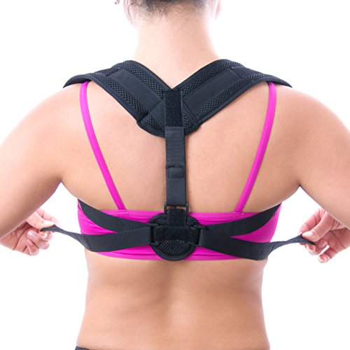TruMod Life Perfect Posture Corrector - Stops Bad Posture, Rounded Shoulders - Clavicle Brace Improves Alignment with Back Pain (Pain Stop)