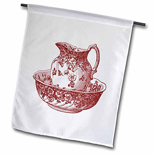 3d Rose 3dRose fl_80283_1 Maroon Red Antique Pitcher and ...