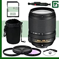 Nikon 18-140mm f/4-5.5.6G ED VR AF-S DX Lens + 8GB Greens Camera Bundle 2