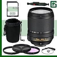 Nikon 18-140mm f/4-5.5.6G ED VR AF-S DX Lens + 8GB Greens Camera Bundle 2