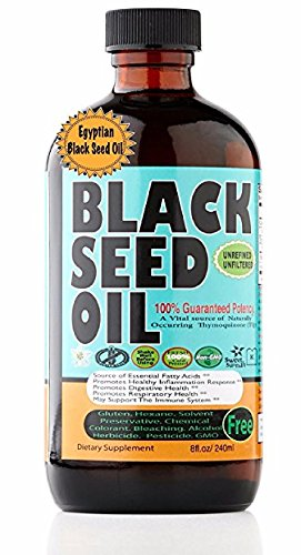 Premium Black Seed Oil Cold Pressed Egyptian Black Seed Oil -- 8 oz by Sweet Sunnah