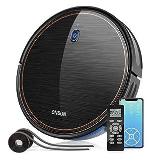 Robot Vacuum, GOOVI by ONSON 2000Pa WiFi Robotic Vacuum Cleaner with Alexa, Self-Charging Vacuum with Boundary Strips, Pet Hair, Hard Floor, Carpets