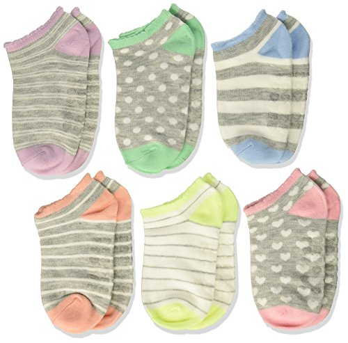 The Children's Place Baby Girls' Ankle Socks (6-Pack), Multi, 6-12Mnts