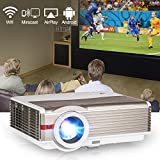 HD 1080P LCD Projector 3900 Lumen Home Theater Video Projectors HDMI VGA USB Ypbpr Audio Built-in Speakers for Backyard Movie System DVD Game Consoles