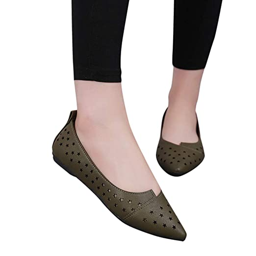5680ad71086a3 Women Loafers Ballet Flats Casual Comfort Moccasin Driving Shoes ...