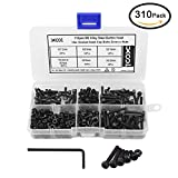XOOL M3 Alloy Steel Hex Socket Head Cap Screws Nuts Assortment Kit, Allen Wrench Drive, Precise Metric Bolts and Nuts Set with Beautiful Assortment Tool Box for 3D printed project, 310 Pcs (Black)
