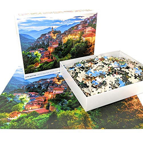 1000 Piece Puzzle for Adults: Lovely Liguria Italy Jigsaw Puzzle