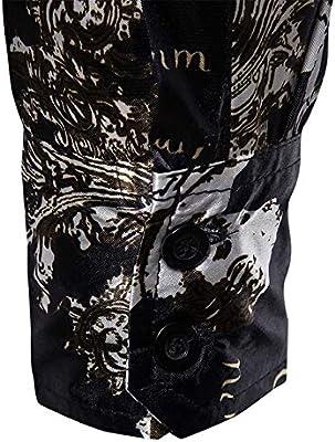 Camisa de Hombre Camisa Negra para Hombre, Metalizado ...