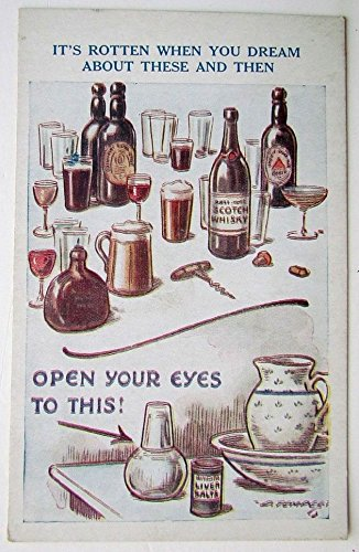 VINTAGE UNDIVIDED ANTI-ALCOHOL PROPAGANDA POSTCARD