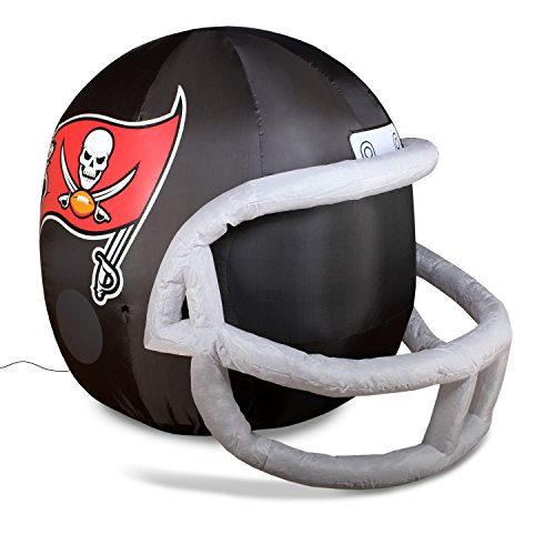 (NFL Tampa Bay Buccaneers Team Inflatable Lawn Helmet, Black, One Size)
