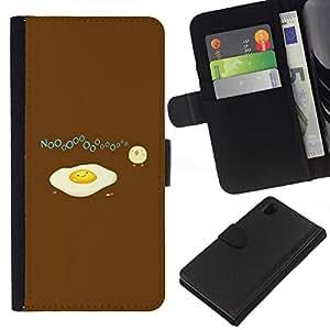 All Phone Most Case / Oferta Especial Cáscara Funda de cuero Monedero Cubierta de proteccion Caso / Wallet Case for Sony Xperia Z1 L39 // Baby Chicken Chick Yellow White