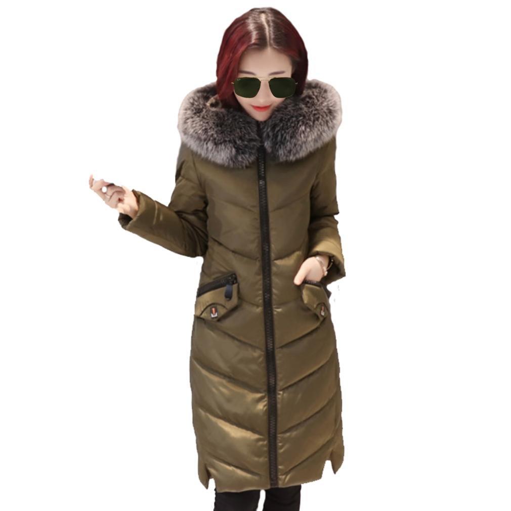 YANXH Invierno la Nueva Chaqueta de Cuello Grande abajo ropa de Mujer Abrigo de la ropa de algodó n má s grueso suelta YANXH sports